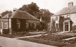 The old House and herb garden in the early 1900's